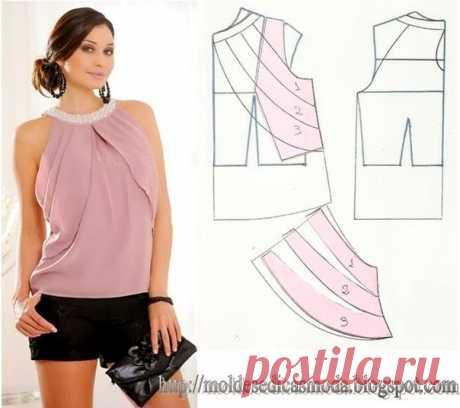 Эффектные и простые в пошиве летние блузки — Сделай сам, идеи для творчества - DIY Ideas