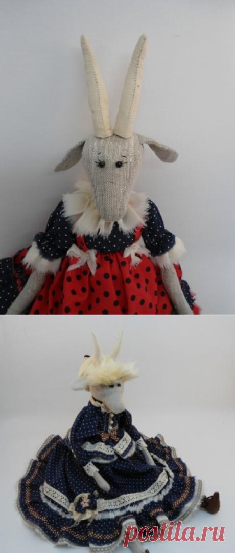 Коза в нарядном платье. Мастер-класс из архива форума | Разнообразные игрушки ручной работы