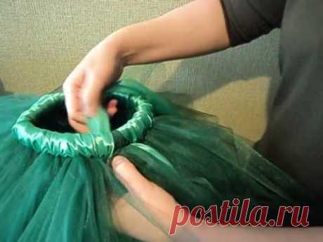 Супер секрет! Как обмотать пояс тутушки атласной лентой.