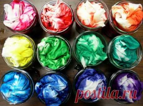 La coloración de las telas fukortsinom