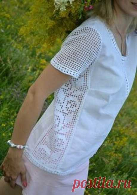 Преображаем нашу одежду, с помощью вязаных элементов - кайма, кружево, мотивы и т.д. Схемы для вязания.   Юлия Жданова   Яндекс Дзен