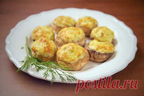 Фаршированные шампиньоны - пошаговый рецепт с фото - как приготовить, ингредиенты, состав, время приготовления - Леди Mail.Ru