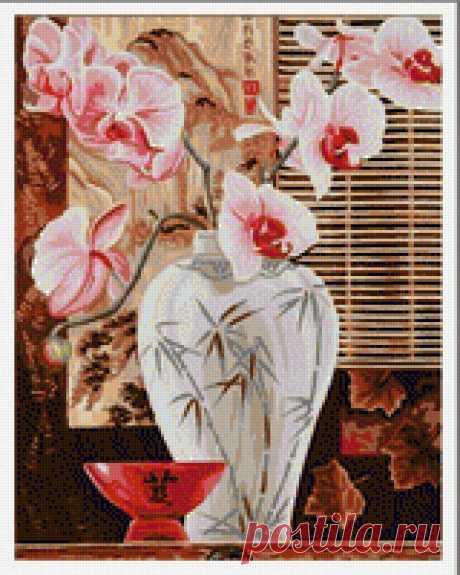Предпросмотр - Схема вышивки «орхидеи» - Автор «Wingdom» - Авторы - Вышивка крестом