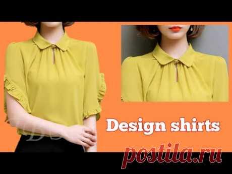 Cắt may Áo kiểu thời trang nhún cổ cực xinh |basic Sewing techniques |