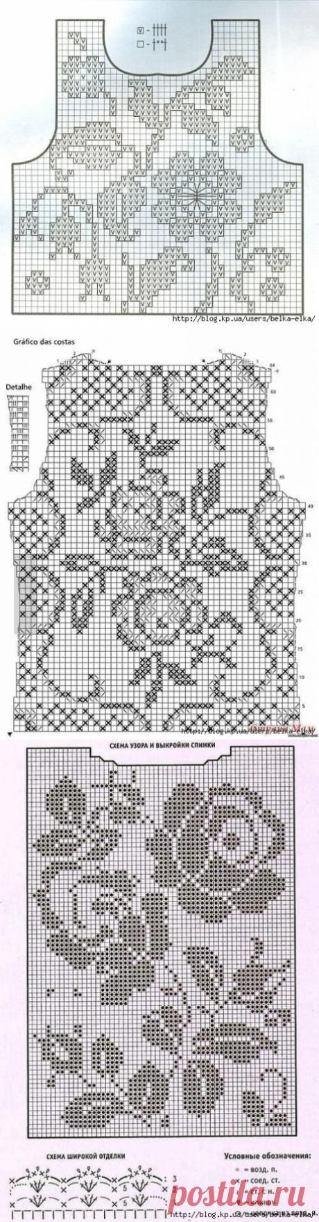 Подборка филейных схем для топов