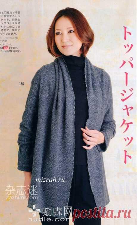"""Шьем жакет """"по косой"""" по-японски. Выкройка Модная одежда и дизайн интерьера своими руками"""