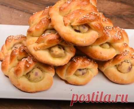 Если хочется выпечки с картошкой, пеку красивые и вкусные пирожки