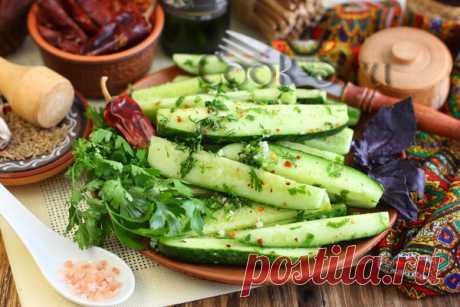 Малосольные огурцы по-грузински - рецепт с фото