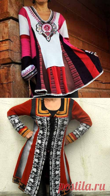 Bright alterations by the hands: 12 ideas for an old sweater