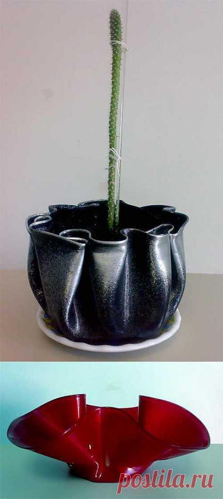 Горшки и вазы из пластинок | Домовёнок