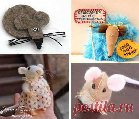 Крыса (мышь) своими руками из разных материалов к новому году 2020