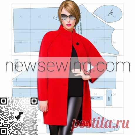 Выкройка пальто oversize скачать бесплатно Шьется легко и быстро - справится даже начинающая портниха. Пальто с рукавом реглан.