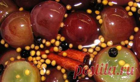 Маринованный виноград рецепт приготовления