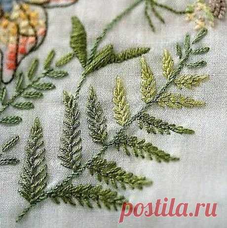 Способы вышивки зеленой листвы — DIYIdeas