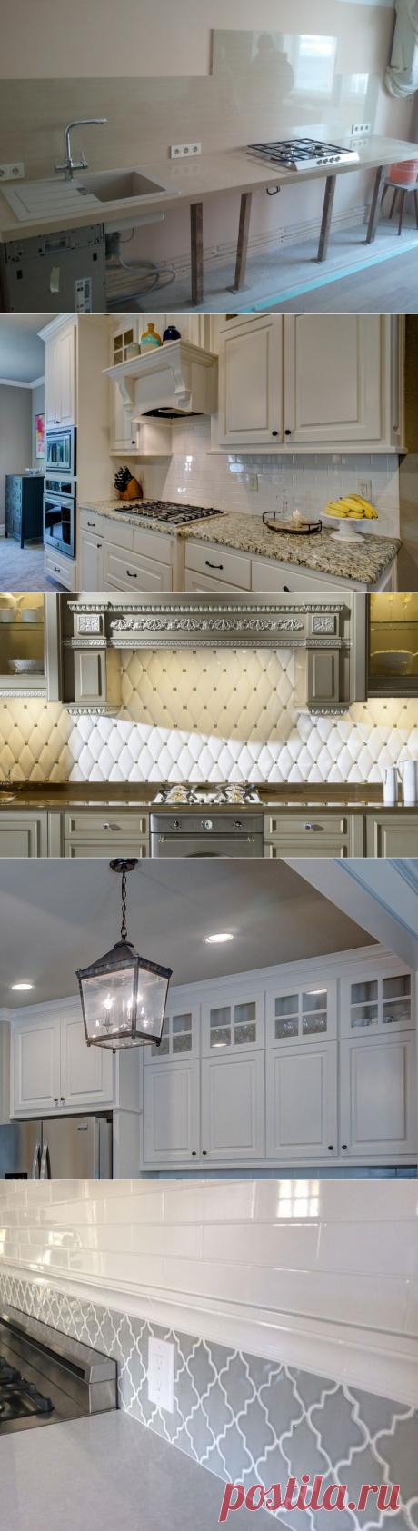 А как лучше - выкладывать фартук на кухне до установки гарнитура или после? | Мебель своими руками | Яндекс Дзен
