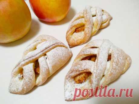 Плетёночки с яблоками и корицей на быстром творожном тесте   Inna Lime   Яндекс Дзен