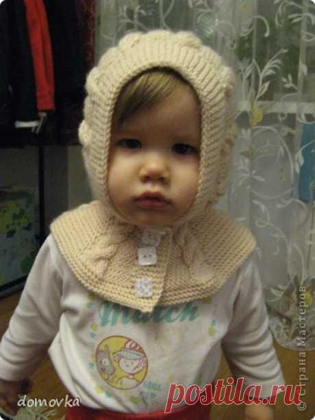 МК по вязанию шапки-шлема для девочки   Страна Мастеров