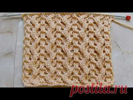Pattern a snake with openwork paths Knitting by spokes the Video lesson 247