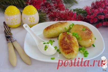 Картофельные котлеты с начинкой | Готовим рецепты
