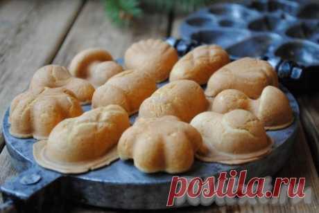 """Печенье """"Орешки"""" в форме на газу - 10 пошаговых фото в рецепте"""
