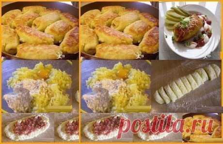 Картофельные рулетики: Самый классный ужин для моей семьи    И готовить легко и съедать быстро!          Ингредиенты:-Картофель – 500-600 г-Яйцо сырое – 1 шт-Мука пшеничная – 100-150 г-Фарш смешанный – 500 г-Масло растительное для жарки. Приготовление:1. Кар…