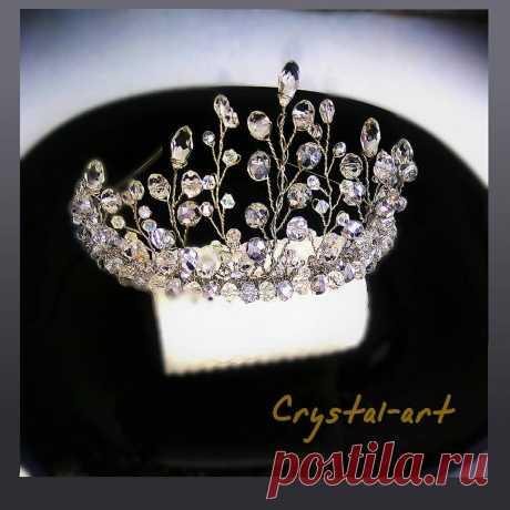 Crystal_art в Instagram: «👑💎Невероятной красоты диадема, очень красиво сияет на солнце. Вы будете настоящей королевой на своём празднике. Выполнена из ювелирной…»