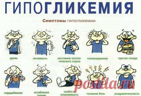 Гипогликемия: причины; симптомы; первая помощь - ПолонСил.ру - социальная сеть здоровья - медиаплатформа МирТесен