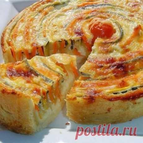 """Пирог с овощами """"Осеннее солнце"""""""