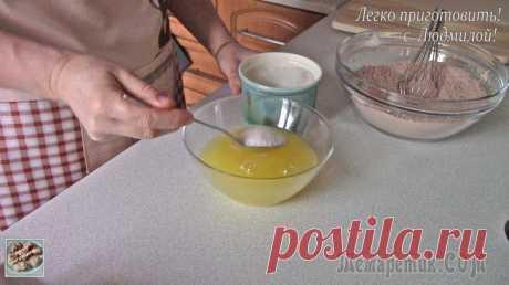 Шоколадная коврижка без яиц, масла и молочных продуктов (постная, вегетарианская)