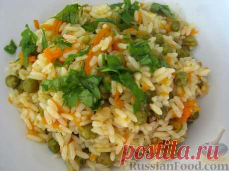 Recipe: Rice with vegetables as a garnish on RussianFood.com