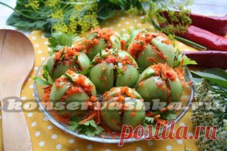 The fermented stuffed green tomatoes