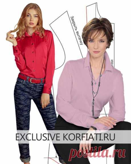 Выкройка приталенной блузки с талевыми вытачками от Анастасии Корфиати