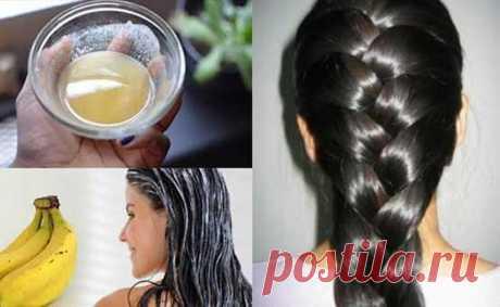 Бананово-пивной лосьон для роста волос / Будьте здоровы
