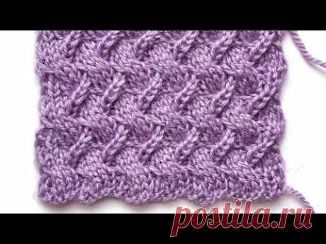 Оригинальная плетенка спицами для вязания шапок, варежек, свитеров