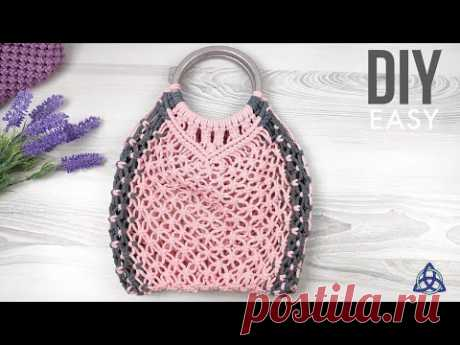 EASY Macrame Market Bag DIY | Net Bag Tutorial