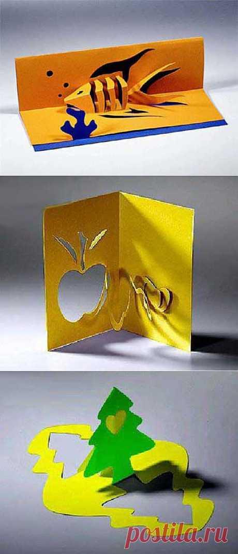 Pop-up открытки киригами