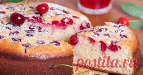 Рецепт пирога с вишней в духовке — CookingPad