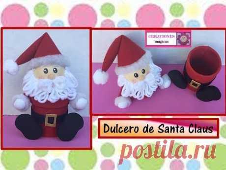 ♥♥tutorial navideño No. 4♥Dulcero de santa Claus♥Creaciones mágicas♥♥