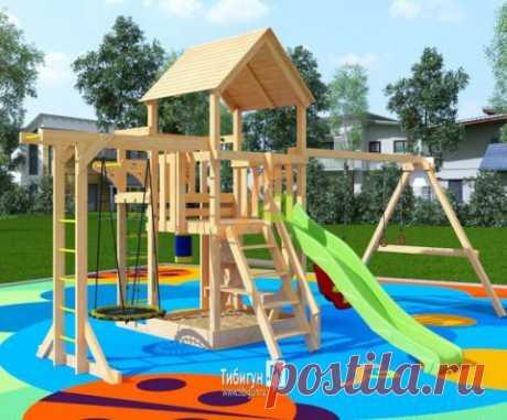 Деревянная детская площадка для дачи IgraGrad Крафт Pro 2