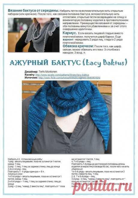 Вязание бактуса спицами, больше 20 моделей с описание и видео-уроками, Вязание для женщин