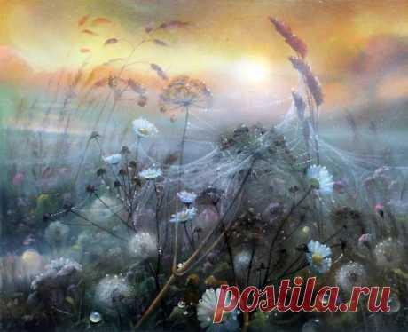 Как во сне — необыкновенные цветочные поляны художника Александра Желонкина Художник Александр Желонкин, известный под ником «Арзамас», из города Сарова известен своими цветочными пейзажами и совершенно мистическими картинами.  Сегодня я хочу предложить вашему вниманию неболь…