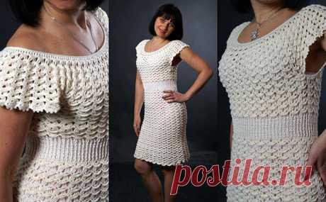 Платье Зефирка для женщин и девочек – схемы вязания крючком с мастер-классами на видео — Пошивчик одежды