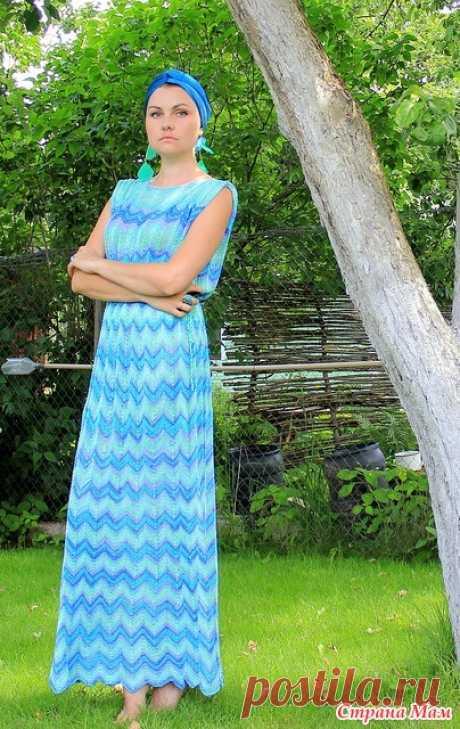 Летние платья от Миссони спицами, узором зигзаги и павлинье перо Ну что девочки поехали  Теперь немного теории:
