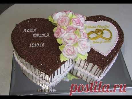 """La torta \""""Dos corazones de boda\"""""""