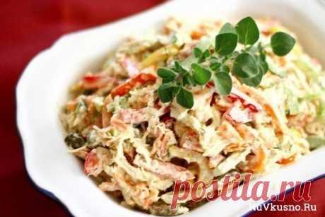 10 салатов с грибами ·