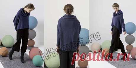 Оверсайз пуловер спицами - Хитсовет