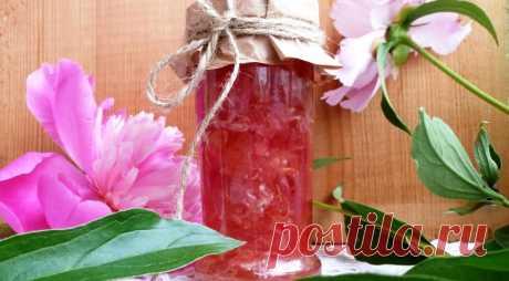 Варенье из лепестков пиона, пошаговый рецепт с фото