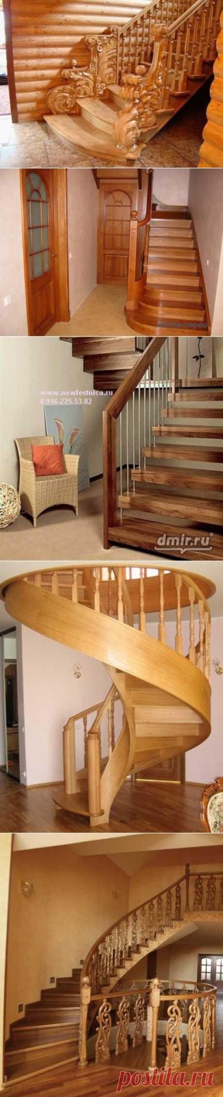 Красивые деревянные лестницы. | ВСЁ ДЛЯ ДОМА
