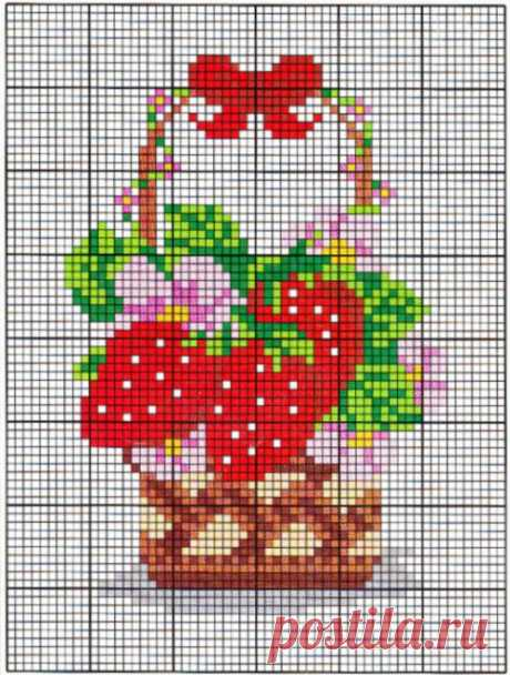 """""""Strawberry"""" вышивка клубники / Вышивка крестом / В рукоделии"""