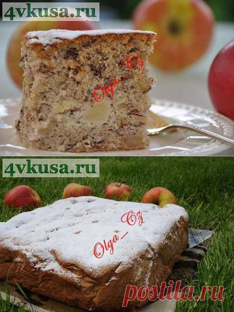 Пирог ореховый с яблоками | 4vkusa.ru